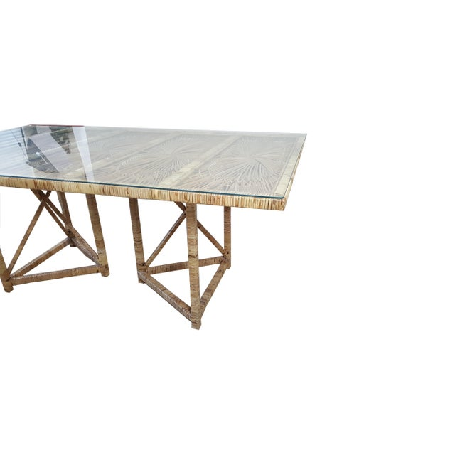 Boho Chic Boho Chic Buri Rattan Rectangular Dining Table For Sale - Image 3 of 6