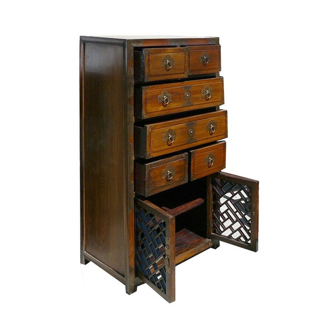Korean Brass Hardware Accent Dresser - Image 4 of 5