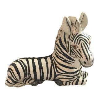 Ceramic Zebra Statue