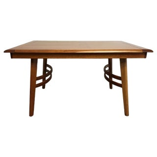 Cherrywood Dining Table in the Manner of Paul Laszlo For Sale