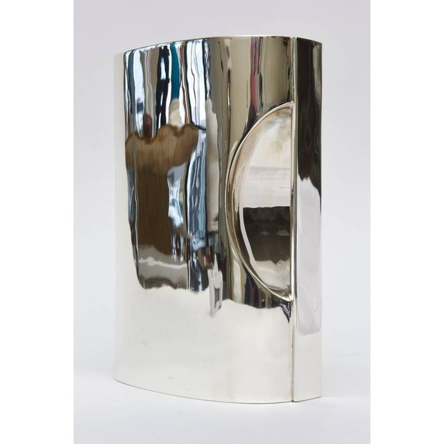 1950s 1950s Couer Sterling Silver Sculptural Hallmarked Pitcher For Sale - Image 5 of 8
