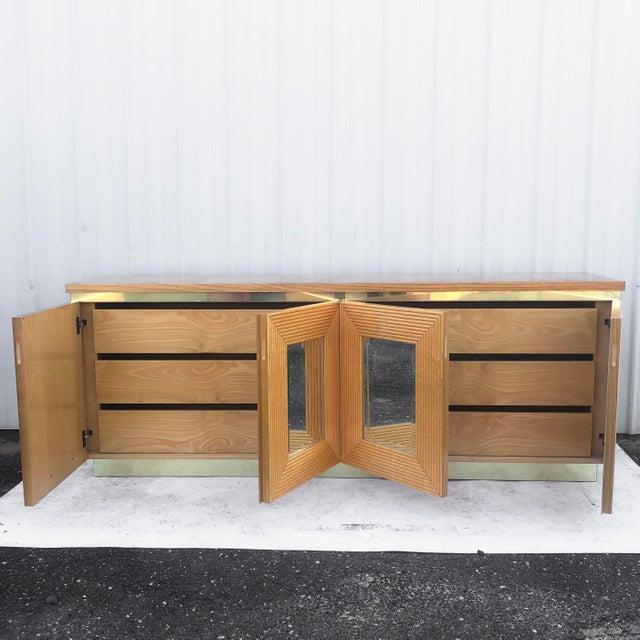 Modern Vintage Boho Bedroom Dresser With Mirror For Sale - Image 3 of 13
