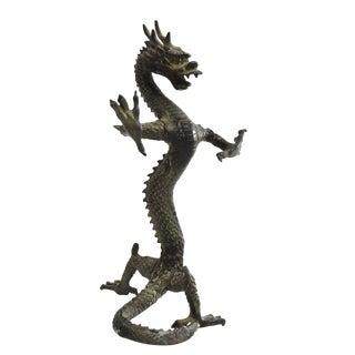 Bronze Standing Dragon Figurine For Sale
