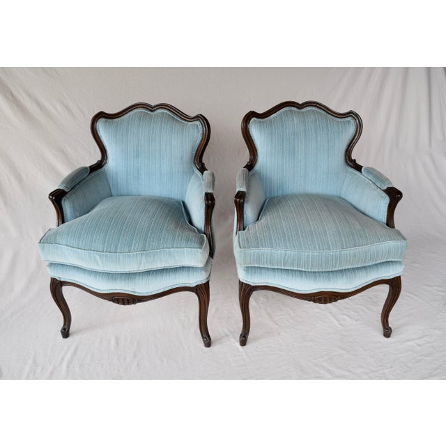 Early 20th Century Pair of French Provincial Berger'e Chairs For Sale - Image 5 of 12