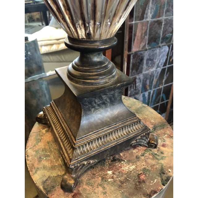 Vintage Neoclassical Crystal Table Lamp For Sale In Minneapolis - Image 6 of 13