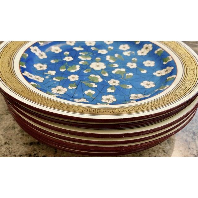 19th Century Wedgwood Blossom Plates - Set of 7 For Sale - Image 10 of 12