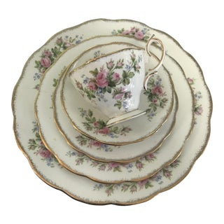 Royal Albert Moss Rose Vintage Bone China 33 Pc. Set