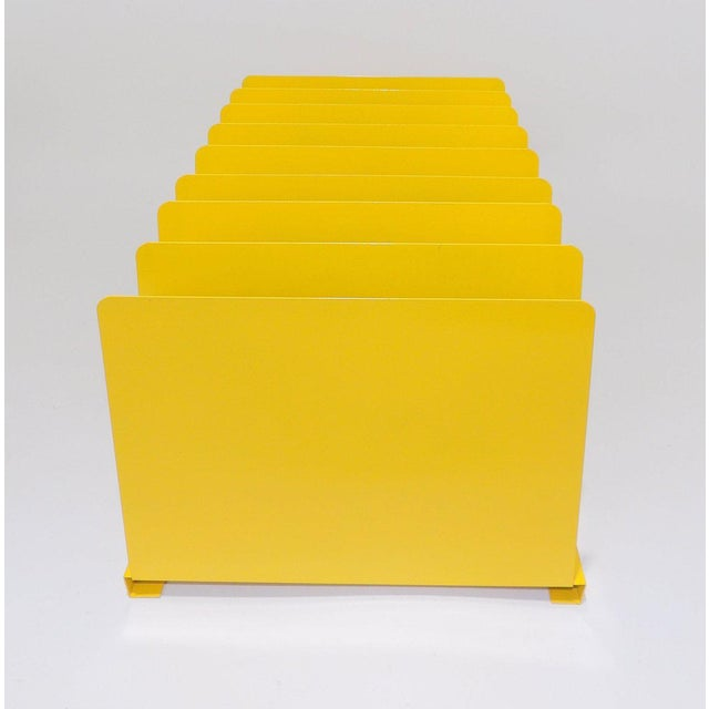 Yellow Metal Office File/Organizer For Sale - Image 4 of 7