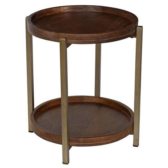 2010s Classic Home Baxter Side Table For Sale - Image 5 of 5