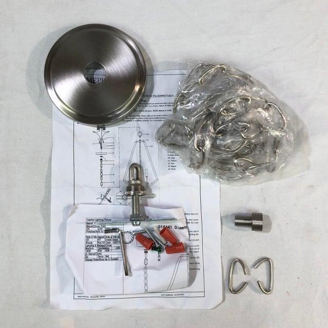 Metal Capital Lighting Baxley 4-Light Brushed Nickel Mini Chandelier For Sale - Image 7 of 9