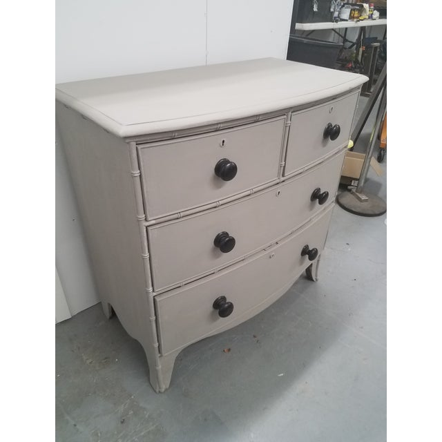 English Antique English Painted Chest of Drawers For Sale - Image 3 of 13