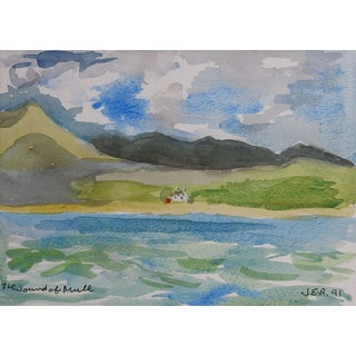 Coast of Scotland Watercolor For Sale