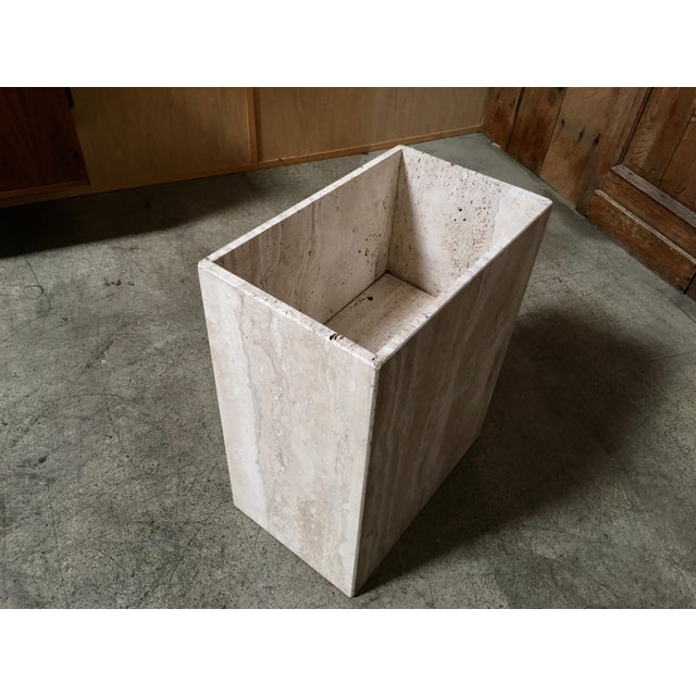 Stone 20th Century Modern Travertine Marble Planter For Sale - Image 7 of 11