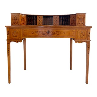 Vintage Edwardian Style Carlton House Desk For Sale