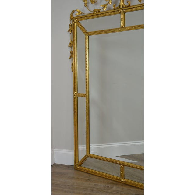 """Friedman Brothers Gold Gilt Frame Louis XVI Style """"The Dorset-Cromwell"""" Mirror For Sale - Image 11 of 12"""