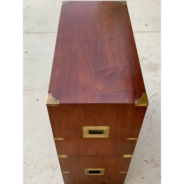 Late 19th Century Antique Victorian Mahogany Campaign Chest For Sale - Image 5 of 7