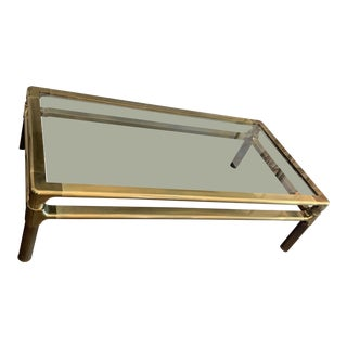 Mastercraft Brass Cocktail Table For Sale