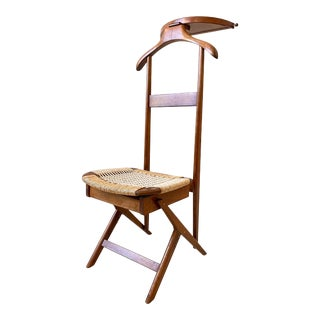 Mid Century Modern Danish Men's Valet Butler Chair in the Style of Hans Wegner For Sale