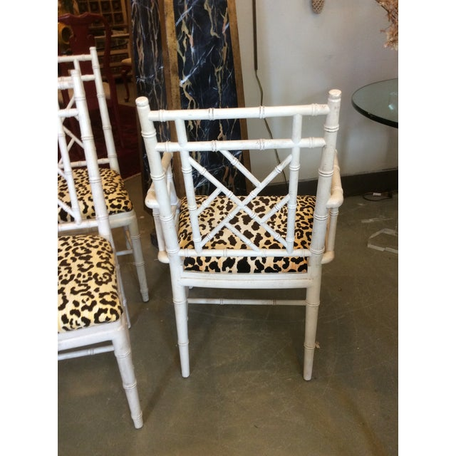 Faux Bamboo Faux Bamboo Dining Chair - Set of 4 For Sale - Image 7 of 13