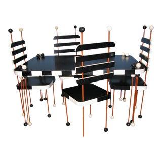Italian Modernist Five-Piece Dining Set - 5 Pieces For Sale