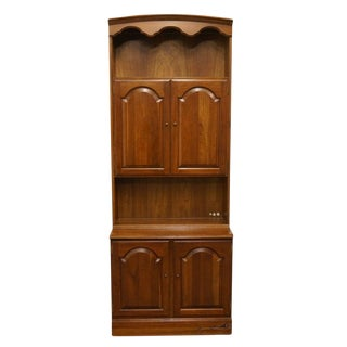 Late 20th Century Vintage Ethan Allen Georgian Court Cabinet For Sale