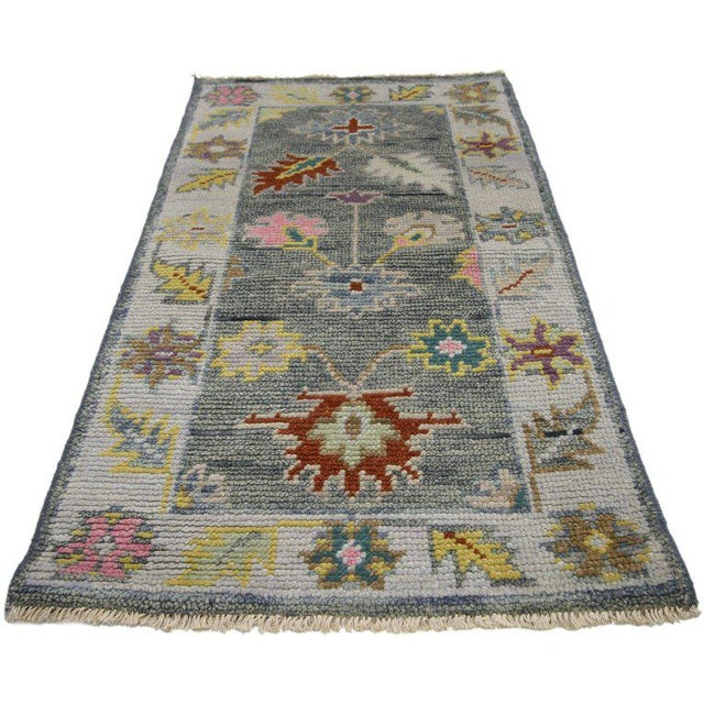 Contemporary Modern Colors Oushak Scatter Rug - 2′1″ × 3′11″ For Sale - Image 4 of 6