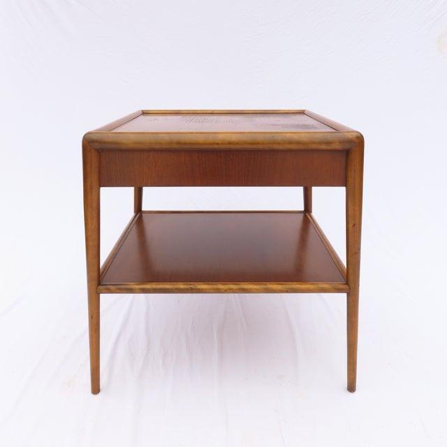 t.h. Robsjohn-Gibbings for Widdicomb Tapered Single Drawer Side Table For Sale - Image 9 of 10
