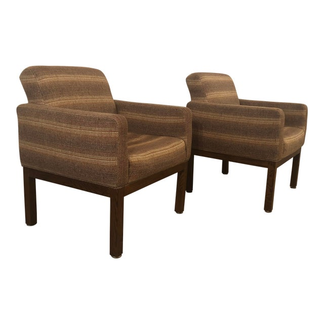 1980s Vintage Milo Baughman Conference Chairs- A Pair For Sale