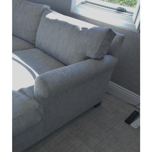 Custom Made Sectional Sofa with Long Chaise Lounge For Sale - Image 4 of 10