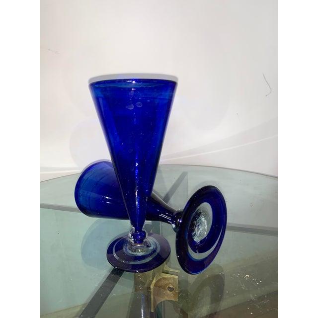 Blue Vintage Cobalt Blue Shrub Glasses - Set of 10 For Sale - Image 8 of 11
