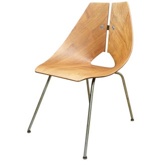 1950s Bent Plwood Chair by Ray Komai Jg Furniture Inc. Mid-Century Architect For Sale