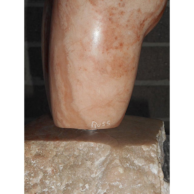 Original Signed Mid 20th C. Marble Sculpture-US Artist Michael Ross-Female Nude Torso - Image 4 of 8