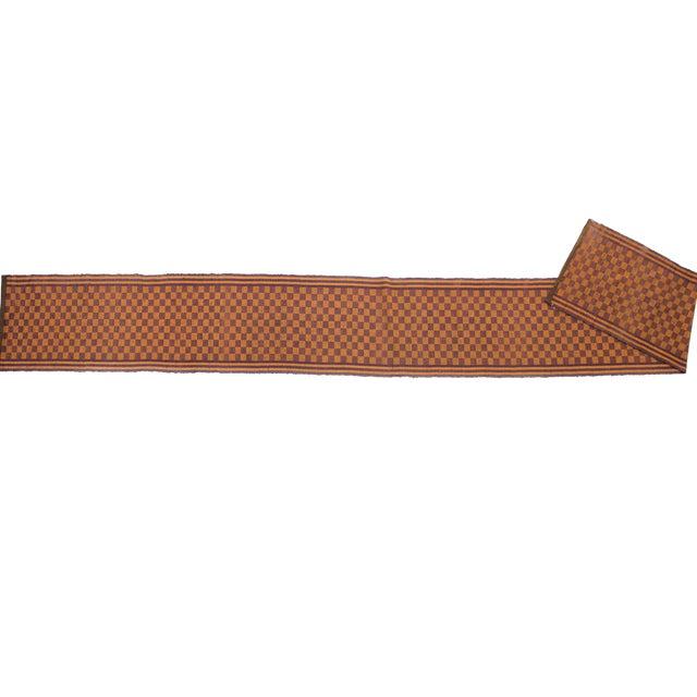 Handwoven Swedish Vintage Rug - 2′ × 17′10″ For Sale