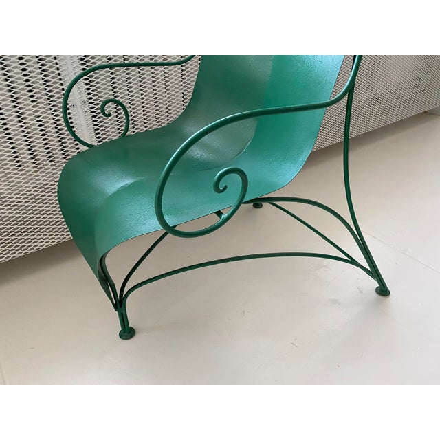 "Poltronova Poltronova Mirabili ""Foglia"" Metal Chair - Sottsass, Memphis, Mendini For Sale - Image 4 of 7"