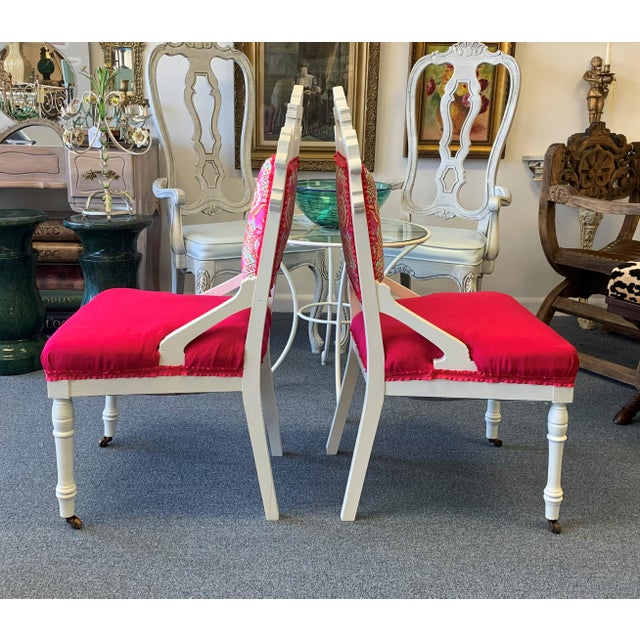 18th Century 18th Century Antique Eastlake Chairs - A Pair For Sale - Image 5 of 13