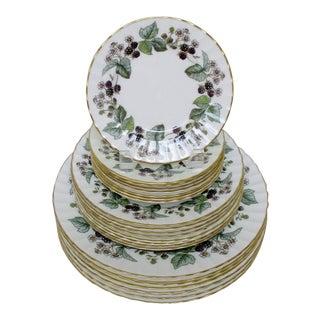 Vintage Royal Worcester Plates - Set of 24