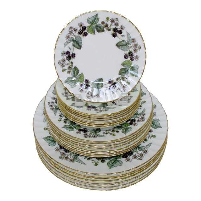 Vintage Royal Worcester Plates - Set of 24 For Sale