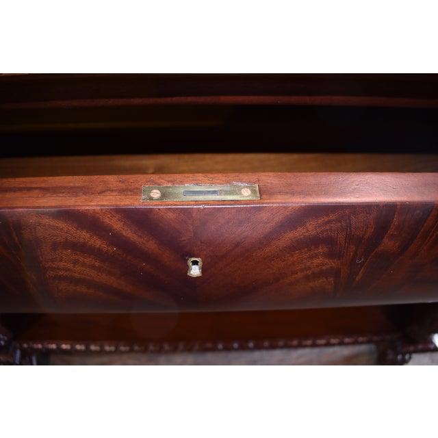 1920s Restored Antique Flame Mahogany Dining Server Buffet Sideboard For Sale - Image 5 of 9