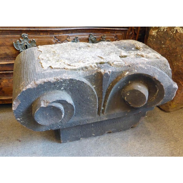 American 19th Century Carved Stone Capital For Sale - Image 3 of 4