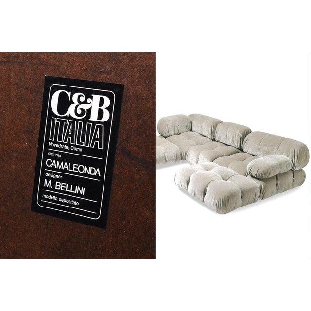 Mario Bellini Velvet Sectional Sofa Model 'Camaleonda' by Mario Bellini For Sale - Image 4 of 5
