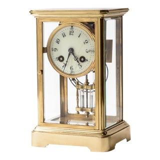 French Crystal Regulator Clock For Sale