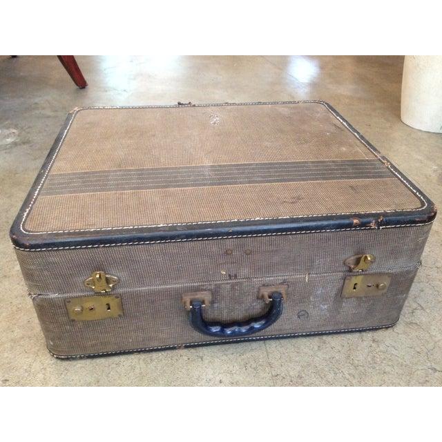 Vintage 1950s Tan Suitcase - Image 2 of 5