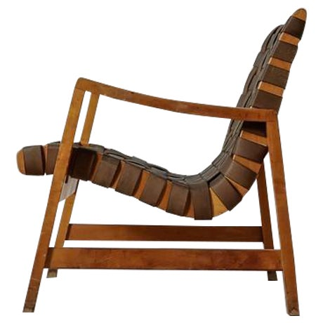 Jens Risom Model 652 Webbed Lounge Chair for Knoll, USA, 1940s For Sale