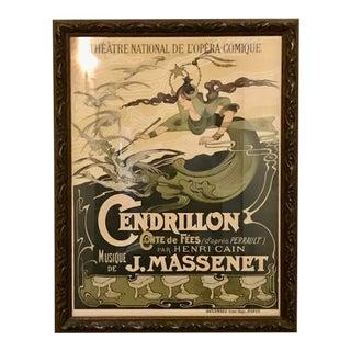 1890s Antique Vintage Poster, Cendrillon by Emile Bertrand For Sale