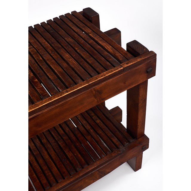 French Antique Fig Drying Console Table For Sale - Image 9 of 11