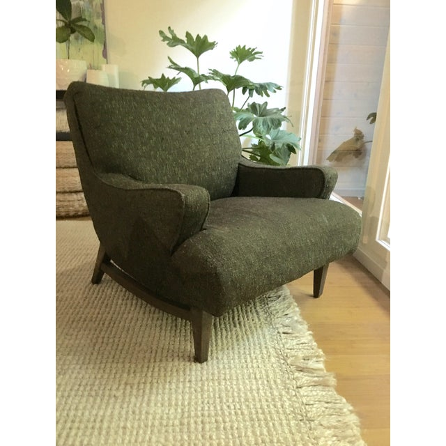 Mid-Century Modern Upholstered Lounge Chair - Image 2 of 9