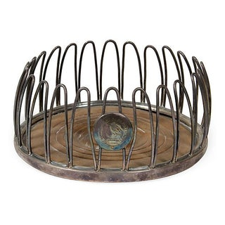 French Sheffield Wire Coaster For Sale
