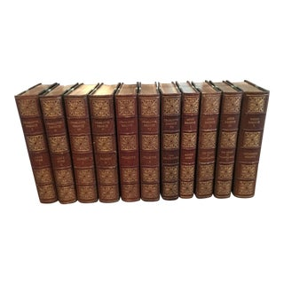 1931 Vintage Brontë Sisters Leather Bound Books, the Shakespeare Head - 11 Volume Set For Sale