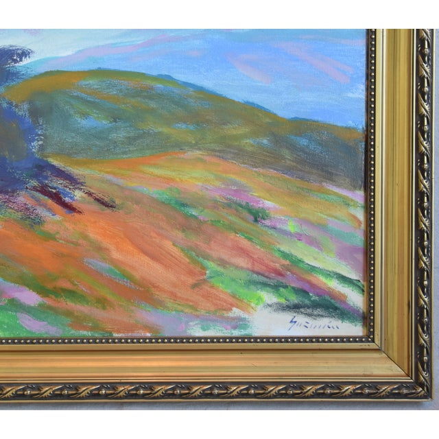 Late 20th Century Juan Guzman, Ojai California Original Impressionist Landscape Oil Painting For Sale - Image 5 of 9