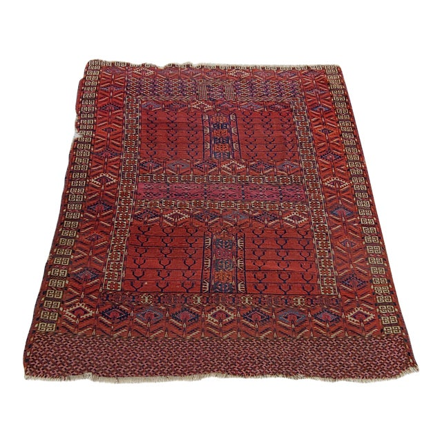 "Vintage Turkoman Tekke Rug-3'11'x5"" For Sale"